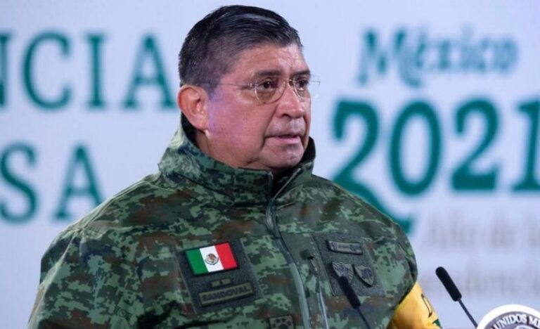 Secretary of National Defense (Sedena), General Luis Cresencio Sandoval reported that he tested positive for COVID-19
